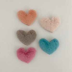 Heart Fur Pin (5colors)