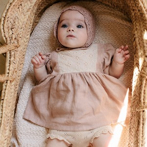 Amelia Baby Dress (dusty rose)
