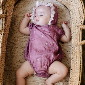 Adele Romper (purple flower)