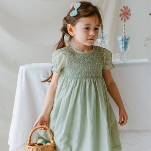 Ely Smoking Dress (tender green)