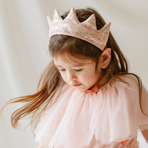 Mary Fabric Crown (sparkling rose)