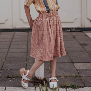 Midi Skirt (copper check)