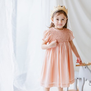 Ely Smoking Dress (coral pink)