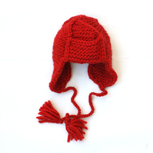 April showers Davis Wool hat (red)