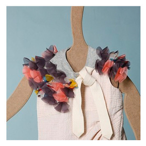 Kico kids Jersey collar with organza flower