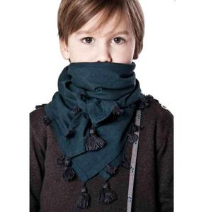 Merveilles As Foulard (grey/dark blue tassel)