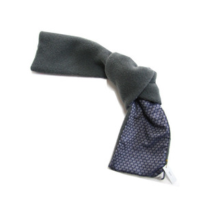 Makie wool fleece scarf (elephant+gray)