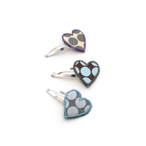 Linna morata Heart hair pin (dots)