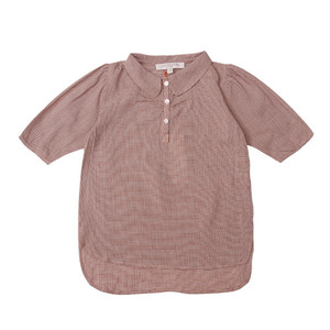 Caramel baby and child Strawberry and Cream Shirt (red blue check)