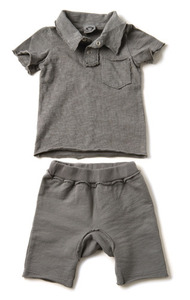 Appaman Polo with Roundshorts (Charcoal)