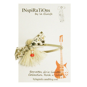 INspiRaTiOns by la Girafe Tassle Pin (beige)