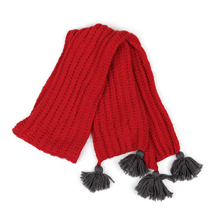 Vent Contraire Wool Scarf (red)