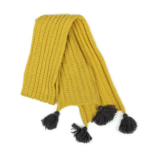 40%_Wool Scarf (yellow)