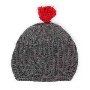 40%_Hat with pompom (grey)
