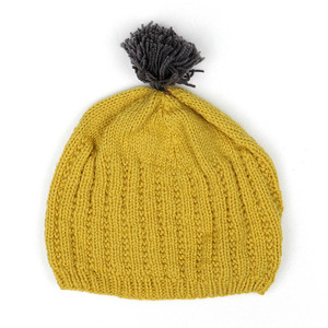 40%_Hat with pompom (yellow)