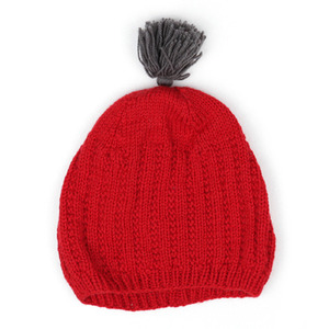 Vent Contraire Hat with pompom (red)