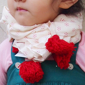 Vent Contraire Cotton Scarf (red)