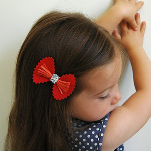 Fancy Bow Clip - 6colors