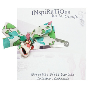 Shell Barrettes (green)