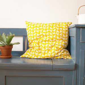 House Cushion (yellow)