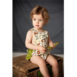 Butterfly vintage-inspired sun suit romper 12m
