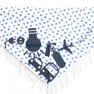 Little Paul & Joe Scarf (blue cat)