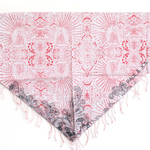 Little Paul & Joe Scarf (red print)
