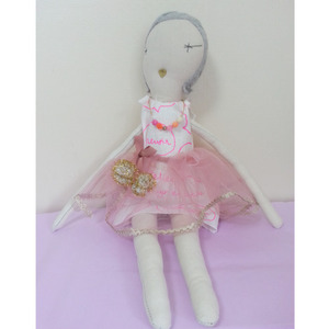 Jess Brown Rag Doll (pink)