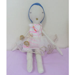 Jess Brown Rag Doll (white)