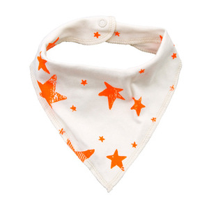 Drooling Scarf (orange stars)