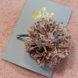 Liberty Pompom Barrettes No.3