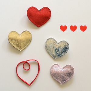 [7차재입고]Big Heart Clips (4colors)
