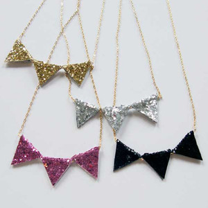 Glitter Necklace (4colors)