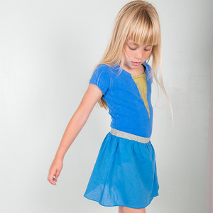 (2/3y)Dance Skirt Blue #148