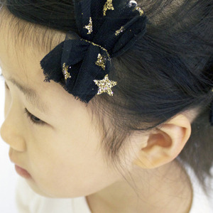 Glitter Star Hairpin (black)