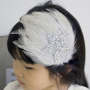 Star Feather Hairband (pale pink)