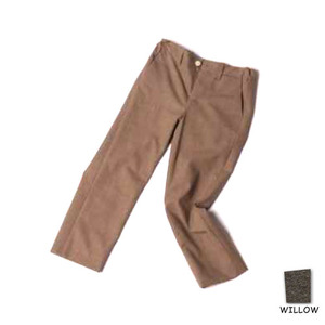 flat front slim trousers