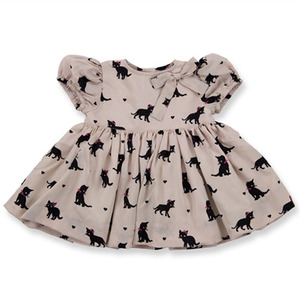 Lili Dress (beige cats)