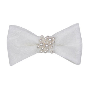 Bow Hairclip (off white)