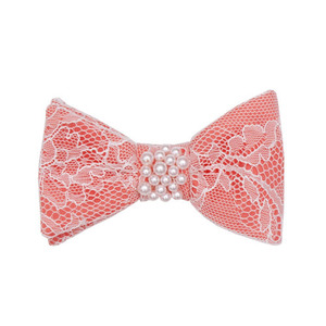 Bow Hairclip (coral)