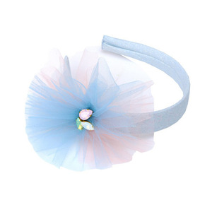 Tulle Flower Hairband (light blue)