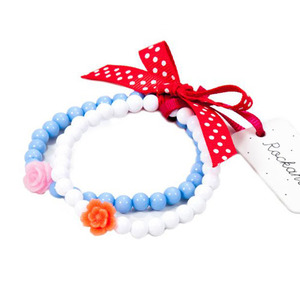 Frida Flower Bracelet Set (white)