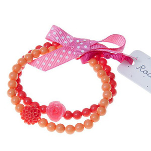 Frida Flower Bracelet Set (coral)