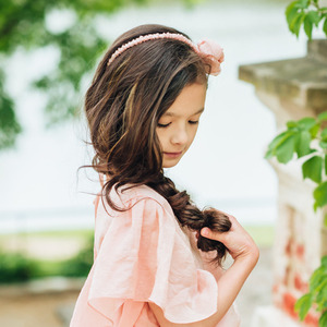 Flower Hairband (peach)