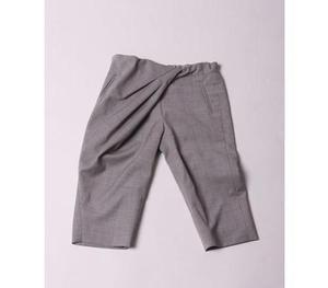Kicokids Cropped deep pleat pants (Greige)