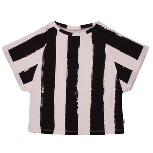 Square Tee (black stripe)