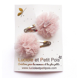 Mini Tulle Bow (pink glitters)