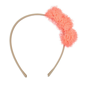 Pompoms Hairband (orange neon)