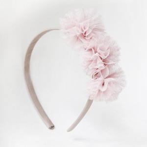 Pompoms Hairband (pink glitter)