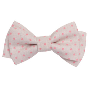 Double Bows (rose pois)
